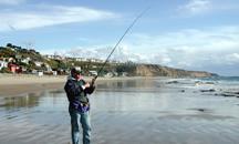 Crystal Cove fisherman