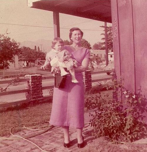 Mom and gayle 1955