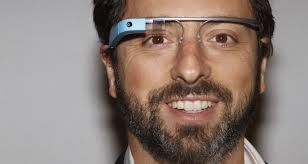 Google Glass wearin Sergei Brin