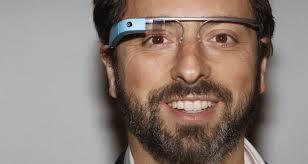 Google Glass wearin Sergei Brin