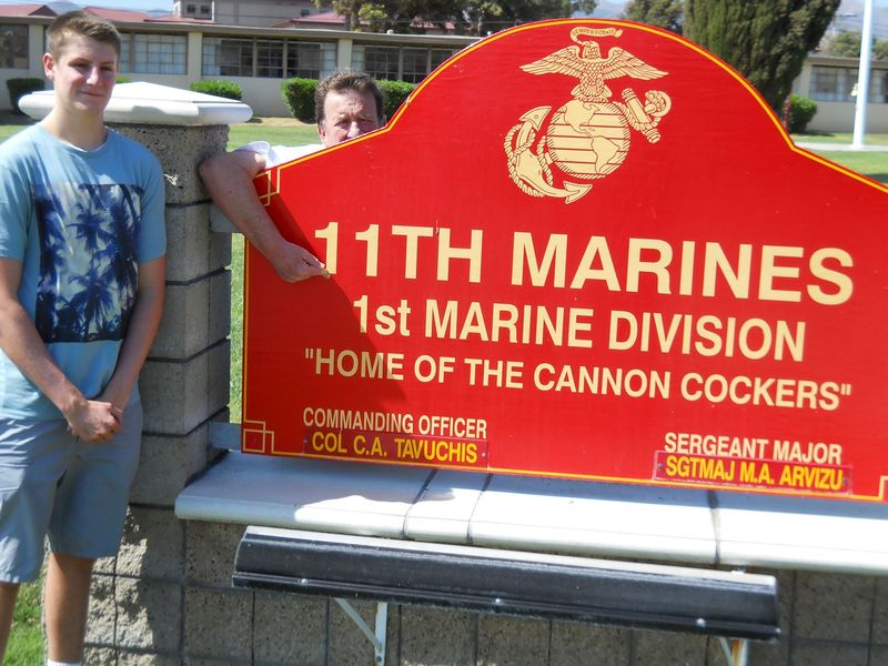 Alistair at the  11th MARINES